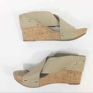 Lucky Brand | Miller Cork Natural Wedge Linen